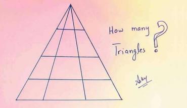 Ile trójkątów widzisz? Ta grafika zawiera jeden mały szczegół, który wszystkich wprowadza w błąd i utrudnia uzyskanie poprawnej odpowiedzi