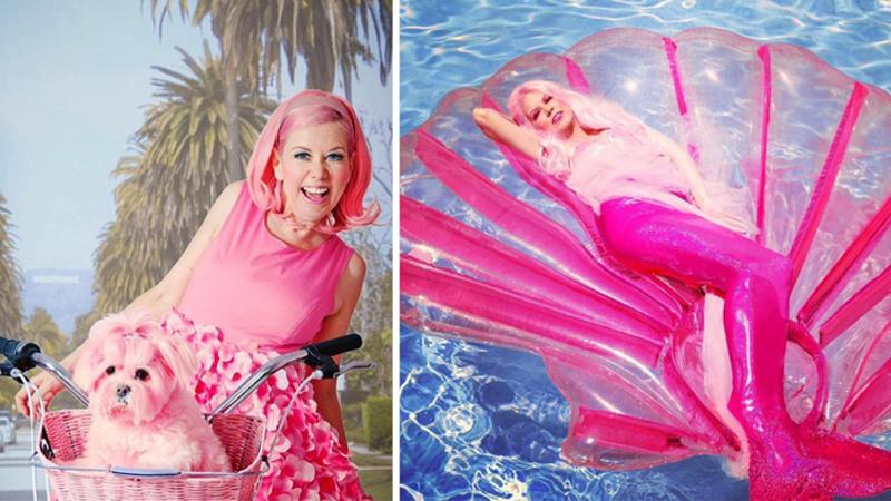 Od 36 lat ubiera się i otacza tylko rzeczami w kolorze różowym. Na ten kolor przefarbowała nawet sierść swego psa! Czy ta kobieta jest normalna?