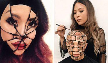 Rzuciła pracę, żeby zająć się robieniem makijaży. Na twarzach wyczarowuje iluzje optyczne od których zakręci ci się w głowie!