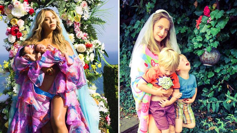 Rodzice parodiują zdjęcia Beyoncé z bliźniakami! Pękniesz ze śmiechu, gdy zobaczysz te porównania