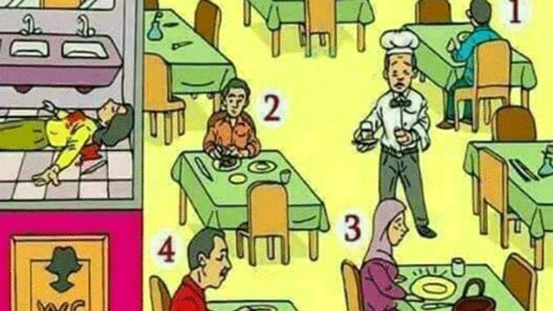 Który z gości restauracji jest mordercą? Nad tą zagadką głowią się setki internautów!