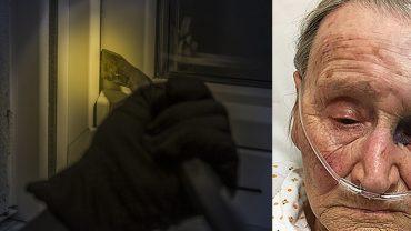Staruszka została napadnięta w domu. Bezwzględny bandyta za nic sobie miał, że okrada i bije 88-letnią kobietę!