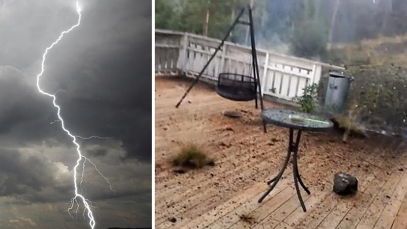 Chciał  z tarasu sfilmować burzę szalejącą nad pobliskimi wzgórzami i omal nie zginął. Piorun niespodziewanie uderzył dwa metry od niego!