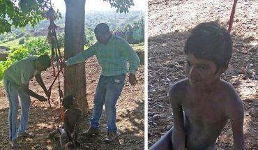 Ojciec przywiązał niepełnosprawnego syna do drzewa, aby nie sprawiał problemów. Gdy na miejsce przybyli ratownicy, złapali się za głowy!