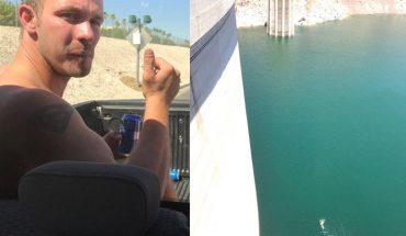 Idiota z wielkim szczęściem, jest pierwszym człowiekiem, który przeżył skok z tamy Hoovera
