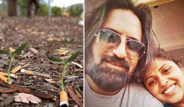 Co może powstać z niedopałka papierosa? Za sprawą Veda i Chetany, piękna, zielona roślina. Koniecznie zobacz, co odkryła ta para!