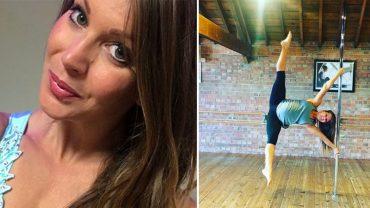 Ciąża nie powstrzymała Charlotte przed tańcem na rurze. Mimo jej 6,5 miesiąca kobieta nadal wykonuje trudne akrobacje. Wie, co robi?