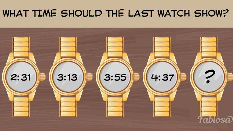 Zagadka, która zmusza ludzi do myślenia. Która godzina będzie na ostatnim zegarku?