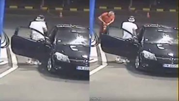 Palił papierosa i zamierzał tankować auto, pracownik stacji uprzejmie mu pomógł