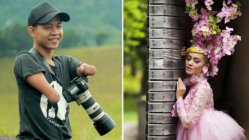 Urodził się bez rąk oraz nóg i został zawodowym fotografem. Jego zdjęcia są sumą kunsztu artysty i siły jego charakteru!