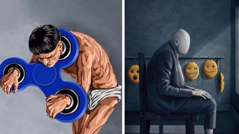 Te ilustracje mówią całą gorzką prawdę o naszym świecie. Czas ściągnąć różowe okulary, bo bez opamiętania czeka nas smutna przyszłość