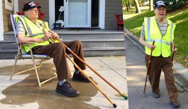 95-letni staruszek kocha spacerować. Nie mógłby jednak tego robić bez pomocy sąsiadów. Ich maleńkie gesty są na wagę złota