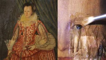 Wylał dziwną maź na 400 letni obraz, gdy zaczęła spływać, wszystkim aż zaparło dech