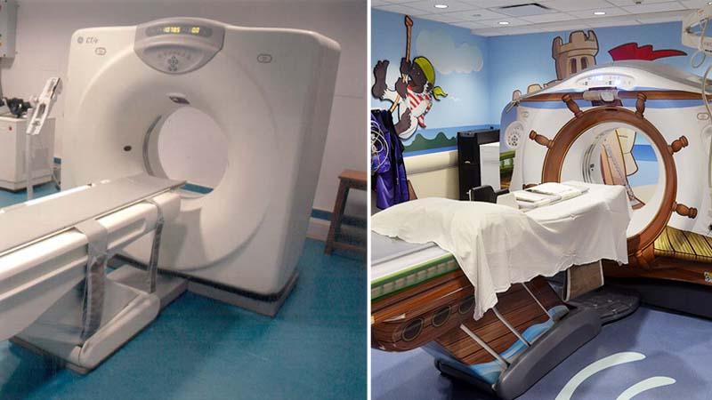 Mali pacjenci szpitala dziecięcego byli przerażeni rurkami i maszynami, które tam zobaczyli. Lecznicę poddano więc metamorfozie