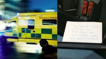 Pobiegli ratować życie, nie spodziewali się, że ktoś zostawi im TAKĄ wiadomość na karetce!