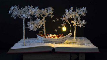 Malena daje nowe życie starym, zapomnianym książkom. Jej sztuka, choć maleńka i delikatna jest ogromnie urokliwa