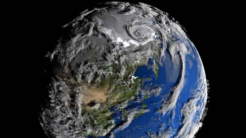 Na tym spektakularnym nagraniu NASA, Ziemia wygląda, jak żywy organizm. Oddycha, czuje i odpiera szalejące tajfuny