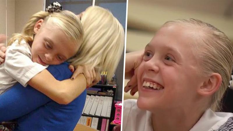 """""""To była czysta radość"""" - mówi Jackie o radości 11-letniej podopiecznej. Dziewczynka właśnie dowiedziała się, że zostanie adoptowana"""