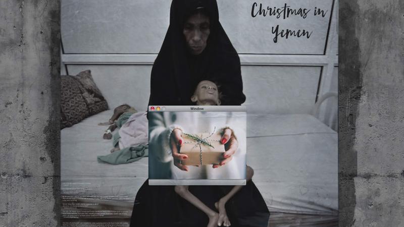 Nie wszystkie dzieci odwiedzi Mikołaj. O niektórych zapomniał cały świat. Jakie święta czekają Jemeńczyków? - najlepiej pokazują to te bilbordy