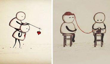 Miłość to wspaniałe uczucie, ale niestety ma też mroczną stronę, o czym swoimi rysunkami przypomina Gypsy Raleigh