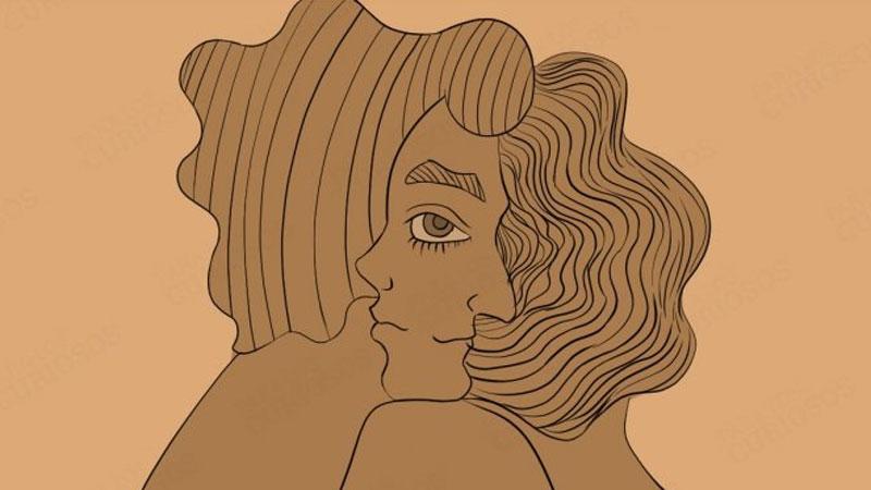 Rysunek przedstawia damską czy męską twarz? Przyjrzyjcie mu się dokładnie i sprawdźcie odpowiedź