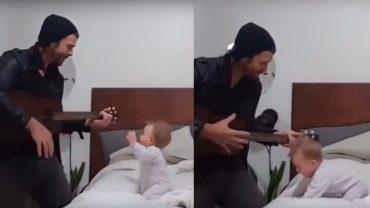 Nagrał piosenkę dla córki, ale nie spodziewał się, że spadnie na niego taka fala hejtu! Matki w internecie doczepiły się do jednej rzeczy na nagraniu