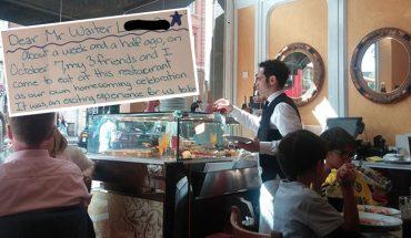 Kelner poświęcił dużo czasu na obsługę dziewczyn, ale dostał marny napiwek. Tydzień później czekał na niego list, którego się niespodziewał