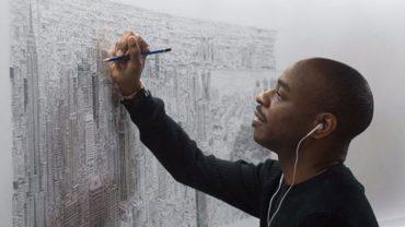 Artysta cierpiący na autyzm maluje niesamowite panoramy miast. Wystarczy mu jeden rzut oka na aglomerację, by odtworzyć najmniejszy szczegół!