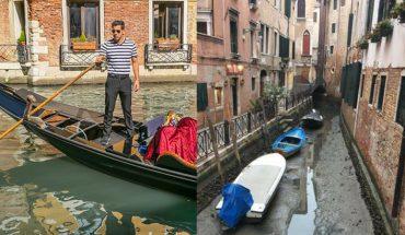 Wenecja wysycha! Słynne kanały bez wody wyglądają nienaturalnie i powodują komunikacyjny chaos