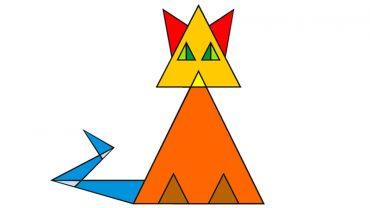 Przetestuj spostrzegawczość i odpowiedz, z ilu trójkątów składa się kot. Nie daj się zmylić, ta zagadka jest tylko pozornie prosta