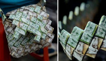 Waluta Wenezueli tak bardzo straciła na wartości, że ludzie zaczęli wyplatać koszyki i torebki, by zrobić użytek z pieniędzy!
