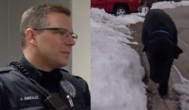 Policjant poszedł za dziwnie zachowującym się psem… Teraz obaj są bohaterami lokalnej społeczności