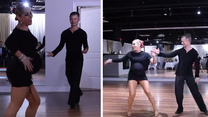Ta tancerka rusza się jak kocica i ma świetne poczucie rytmu, ale i tak posypały się na nią gromy. Wszystko przez to, że tańczy w zaawansowanej ciąży