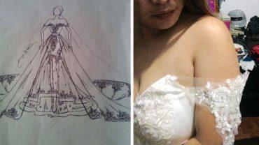 Marzyła o idealnej sukni ślubnej, więc zamówiła ją u projektanta za 38 tysięcy funtów. Gdy na dzień przed uroczystością przyszła paczka, przeżyła wstrząs