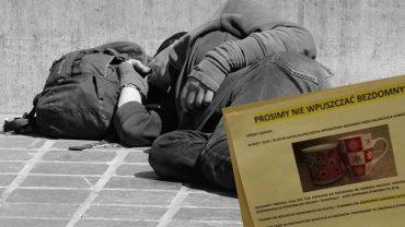 Wycenili życie człowieka na 35 zł i zażądali przeprosin, bo ktoś wpuścił bezdomnego na klatkę. Na zewnątrz było -15 stopni!