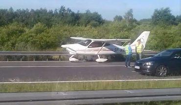 Awaryjne lądowanie samolotu na autostradzie koło Rzeszowa (FOTO)