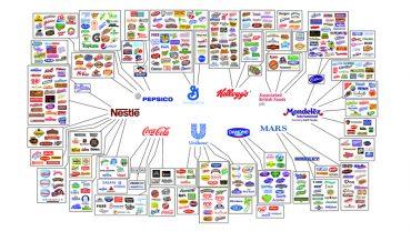 Ta grafika zdradza prawdę o współczesnym rynku. Wszystkie zasoby są w rękach 10 korporacji!