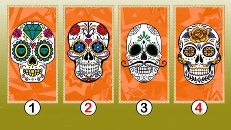 Wybierz czaszkę, która od razu zwróciła twoją uwagę. To, co się pod nią kryje, zdradza twoją przyszłość
