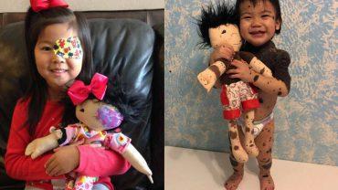 Te lalki są kopią swoich właścicieli! Kobieta uczy dzieci, aby były dumne ze swojego wyglądu