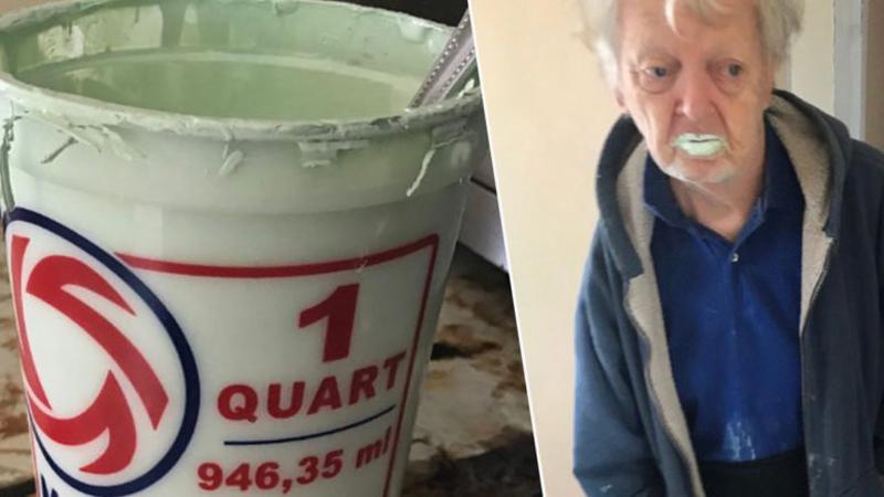 90-latek zjadł pół litra farby, bo myślał, że to jogurt. Nie żałuje ani łyka