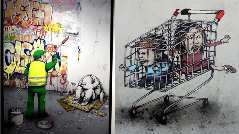 Jest brudna, niepokorna i do bólu szczera - sztuka z ulicy pokazuje, na co cierpi nasz świat