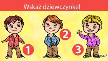Które dziecko jest dziewczynką? Tylko nieliczni wskazują poprawnie