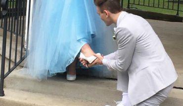 Nie miała pieniędzy, żeby kupić sukienkę na studniówkę! Jej chłopak postanowił uszyć jej kreację