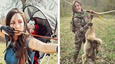 Mama bierze córeczkę na plecy i idzie zabijać zwierzęta. Ma nadzieję, że zarazi ją swą pasją