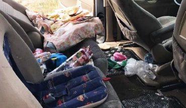 Zostawiła niemowlę w nagrzanym aucie i poszła handlować ubraniami! Wnętrze samochodu daje do myślenia