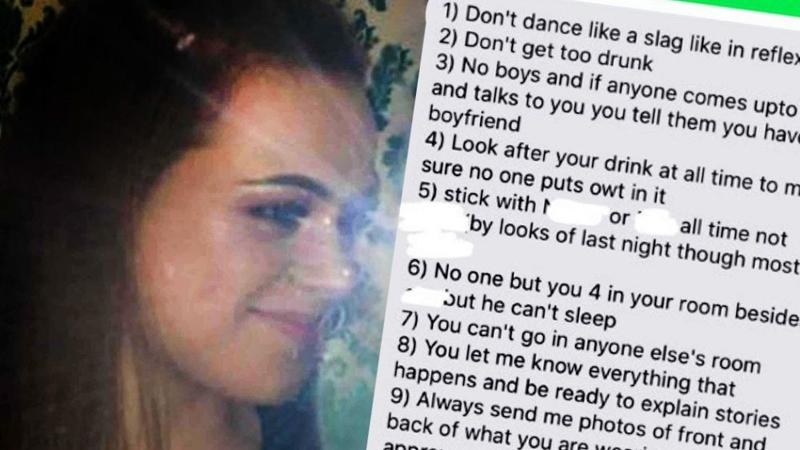 """Toksyczny chłopak wysłał jej """"12 zasad na wieczorne wyjścia"""", a potem ją zdradził"""