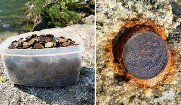 Wyłowiono 4 kg monet z niewielkiego obszaru Morskiego Oka! Rdzewiejące pieniążki trują wodę w jeziorze
