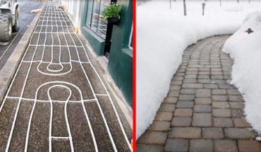Na Islandii zaczęli wprowadzać podgrzewane chodniki, aby ludzie się nie poślizgnęli. Fantastyczny patent!